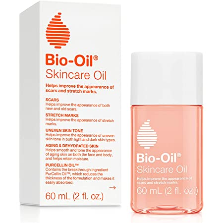 Bio-Oil Skincare Oil, Body Oil for Scars and Stretchmarks, Serum Hydrates Skin, Non-Greasy, Dermatologist Recommended, Non-Comedogenic, 2 Ounce, For All Skin Types, with Vitamin A, E