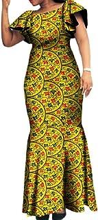 6d98d7040fc SportsX Women s Dashiki African Print Party Batik Plus Size Long Dress