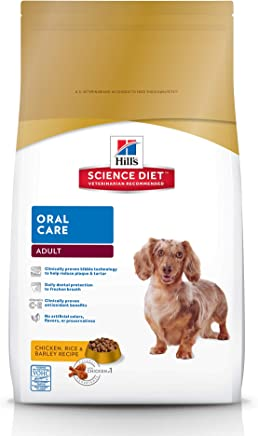 HillS Science Diet Dry Dog Food, Adult, Oral Care Chicken, Rice & Barley