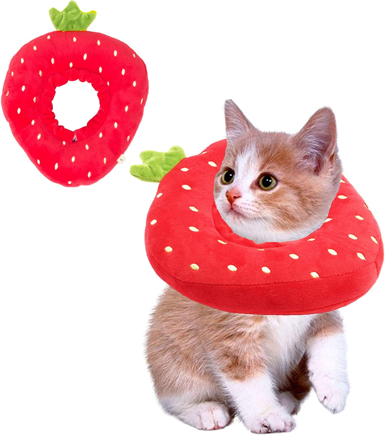 ADOGGYGO Adjustable Cat Recovery Collar Cute Neck Ranking Oakland Mall TOP18 Co Strawberry