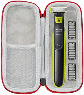 Asafez Hard Travel Case for Philips Norelco OneBlade QP2520/90 / QP2520/70 / QP2630/70 Hybrid Electric Trimmer Shaver