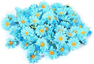 100 STKS Gerbera Daisy Kunstbloemen Stof Bloemen Hoofden Voor Bruiloft Party DIY Decoratie Ambacht (Lichtblauw)