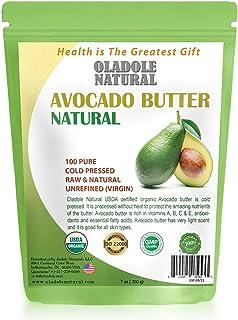 Oladole Natural Organic Avocado Butter USDA Certified, Cold Pressed, Unrefined Premium Grade Raw Pure Avocado Butter, Amaz...