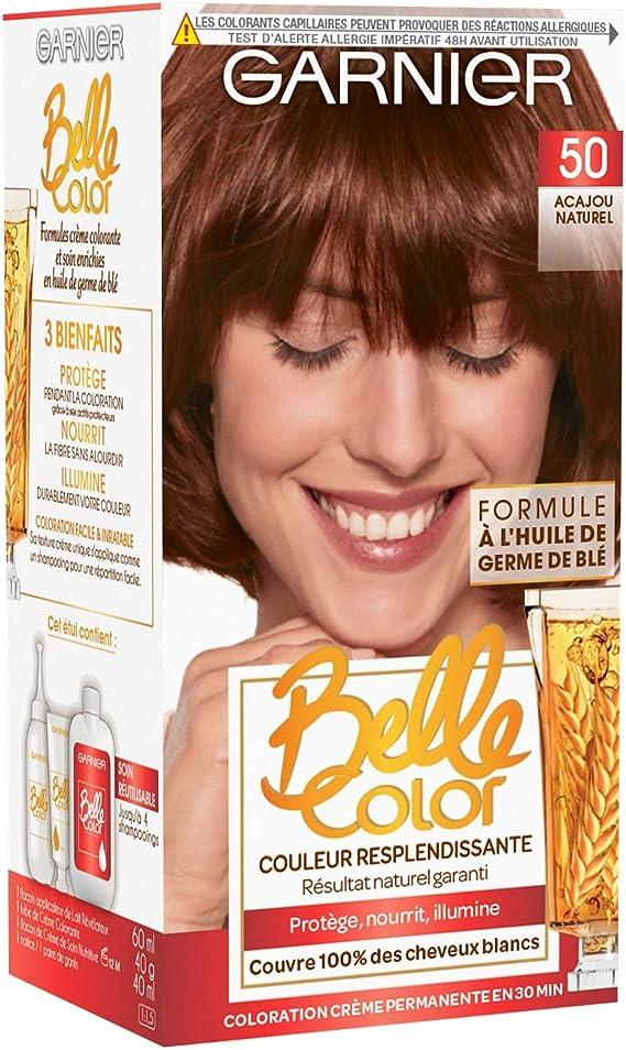 Garnier - Belle Color - Coloration permanente Acajou - 50 Acajou naturel