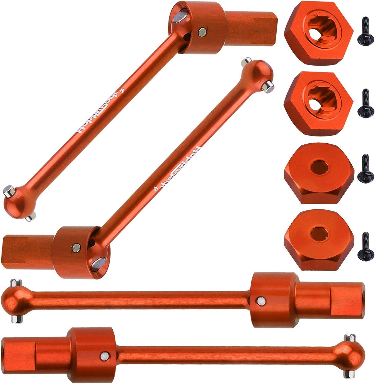 8-Pack for Traxxas 1//18 LaTrax Teton Upgrades fit Desert Prerunner Front /& Rear Green /& Hex Wheel Hubs Hobbypark Metal Aluminum Driveshaft Assembly Replace Parts 7650 7669