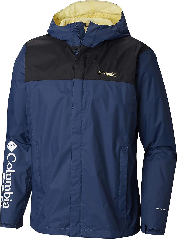 Columbia Men's PFG Storm Jacket, XX-Large, Carbon Sunlit