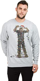 STAR WARS Men's Chewbacca Lights Crew Pullover Sweater