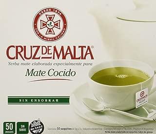 Yerba Mate Cruz de Malta - Mate Cocido - 50 tea bags