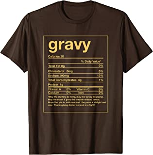 Funny Gravy Nutrition Facts Thanksgiving Matching T-Shirt