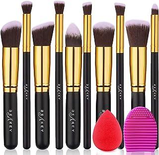 BEAKEY Makeup Brush Set Premium Synthetic Kabuki Foundation Face Powder Blush Eyeshadow Brushes Makeup Brush Kit with Make...