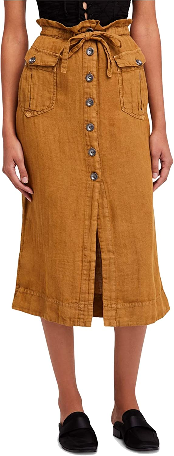 Free People Womens To The Point Midi Skirt