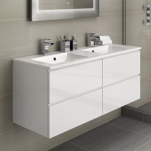 Excellent Double Sink Bathroom Vanity Units Amazon Co Uk Complete Home Design Collection Papxelindsey Bellcom