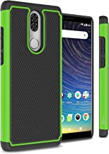 CoverON Heavy Duty Hybrid HexaGuard Series for Coolpad Legacy Case (6.36 inch Metro PCS, T-Mobile 2019), Green