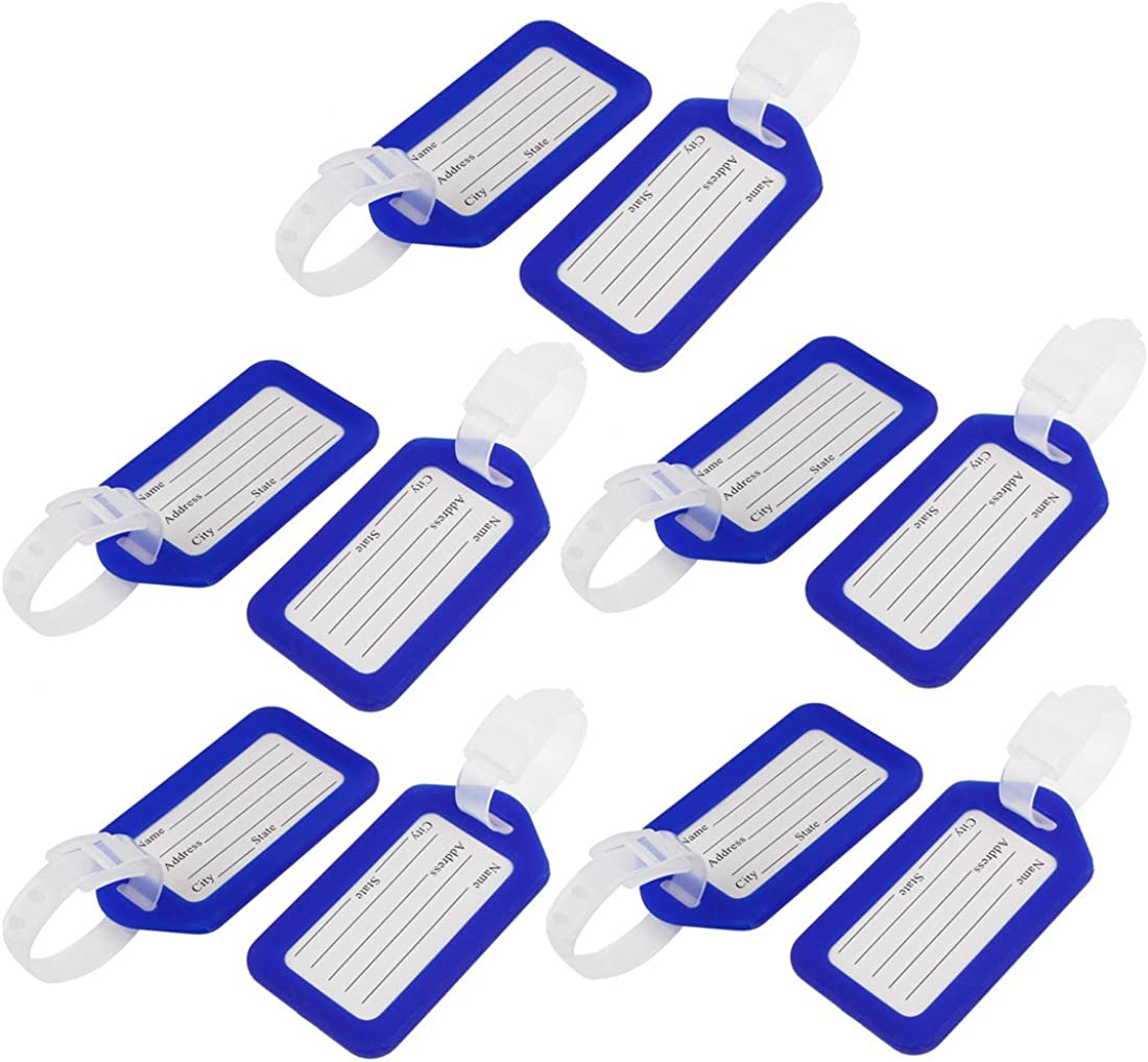 uxcell Hard Plastic Bag Chicago Mall ID Name Travel Luggage Tags Label Pcs 10 Gifts