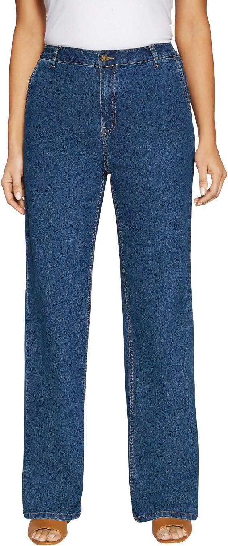 Jessica London Women's Plus Size True Fit Wide Leg Jeans