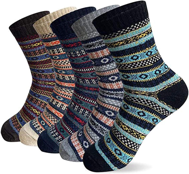 XCeihe Store 5 Pack Womens Winter Super Knit Soft Thi Long-awaited Wool Warm Fleece