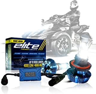 High Power LED Headlight H4 Bulbs Lights Compatible with Can-Am Spyder F3 F3-S (2 Pack)
