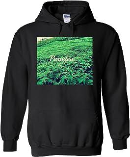 Paradise Weed High 3D Fun Novelty Black Men Women Unisex Hooded Sweatshirt Hoodie