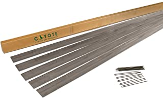 Coyote Landscape Products 5 Piece Steel Home Kit Raw Steel Edging with 15 Edge Pins, 4