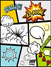 Blank Comic Book For Kids: Comics Strip Writing Cartoons Journal, Manga Notebook Template Girls Boys Adults Teens, Epic Layout, Artist Sketchbook ... Speech Bubble Prompts, 150 Pages 8.5x11inches