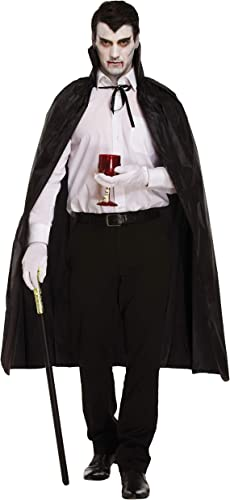 Legs Galore Ltd Mens Halloween schwarz Vampire Cape, Vlad Wig and Split Cane