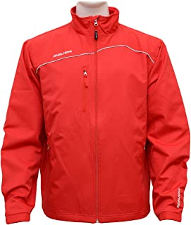 Bauer Lightweight Senior Hockey Warm Up Jacket - Red - X-Large