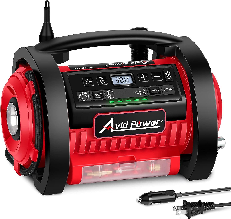Avid Power Tire Inflator Air Compressor