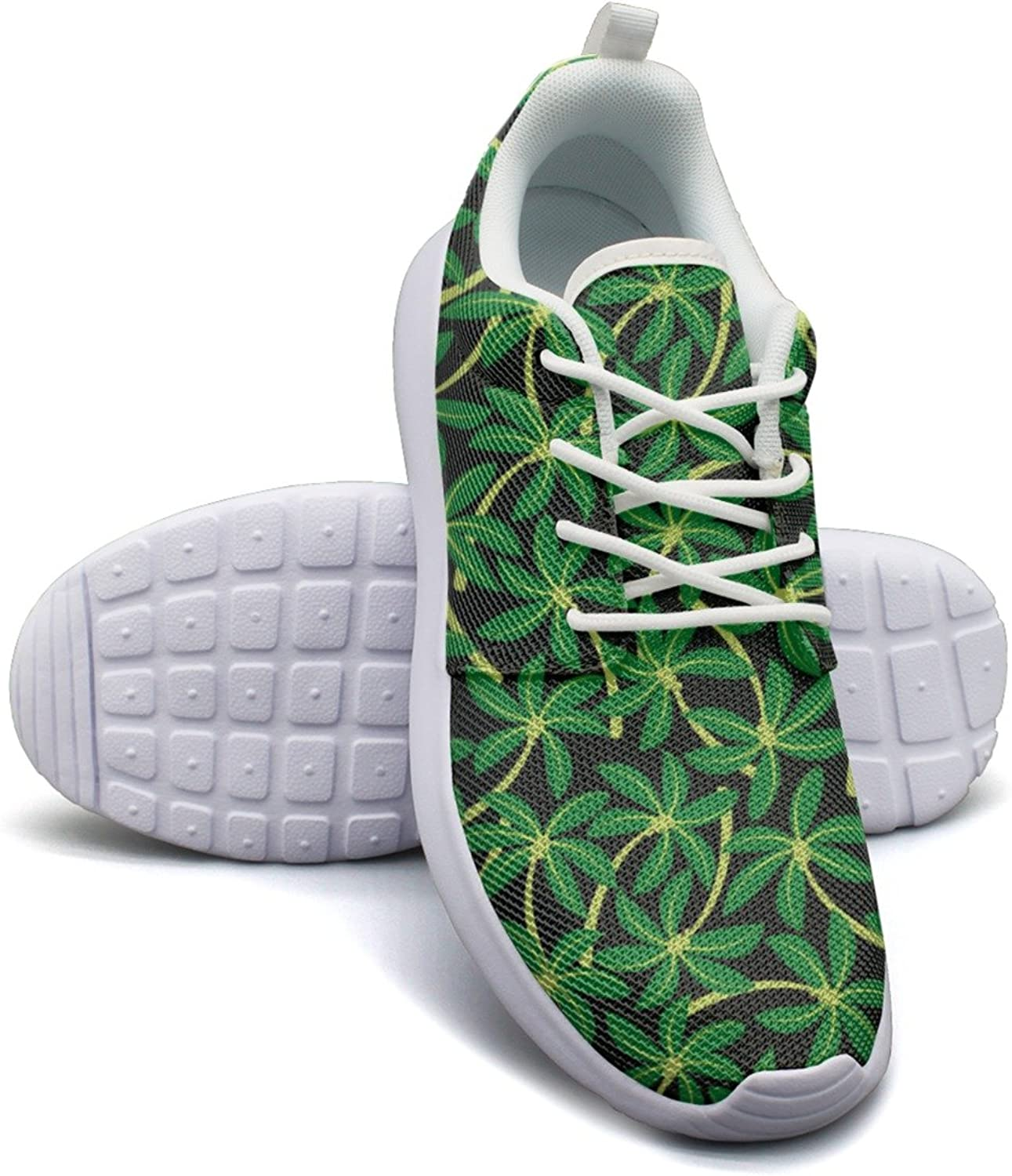 Camping Curved Tropical Coconut Palm Tree Young Men Funny Running shoes