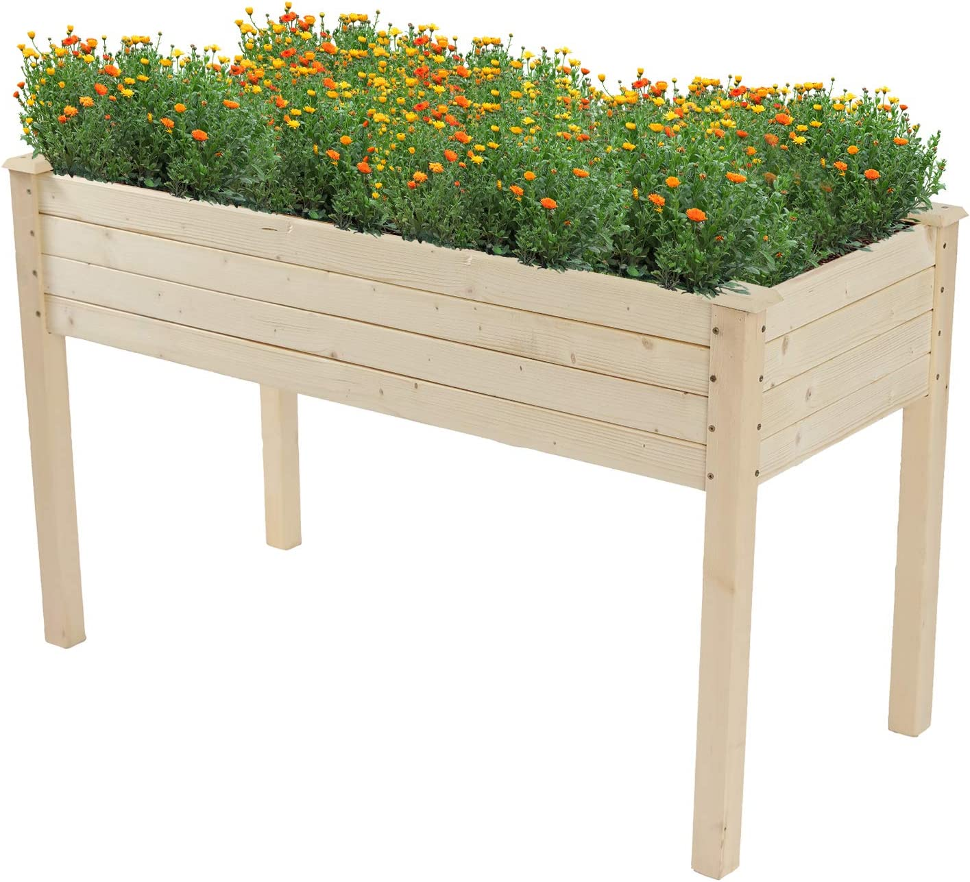 48x24x30-inch Outdoor Wooden Raised Garden Bed Large special price !! High quality Planter for Veget