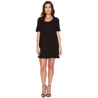 Lilla P Short Sleeve Dress (Black) Women
