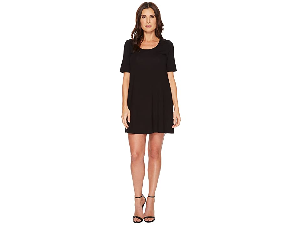 Lilla P Short Sleeve Dress (Black) Women