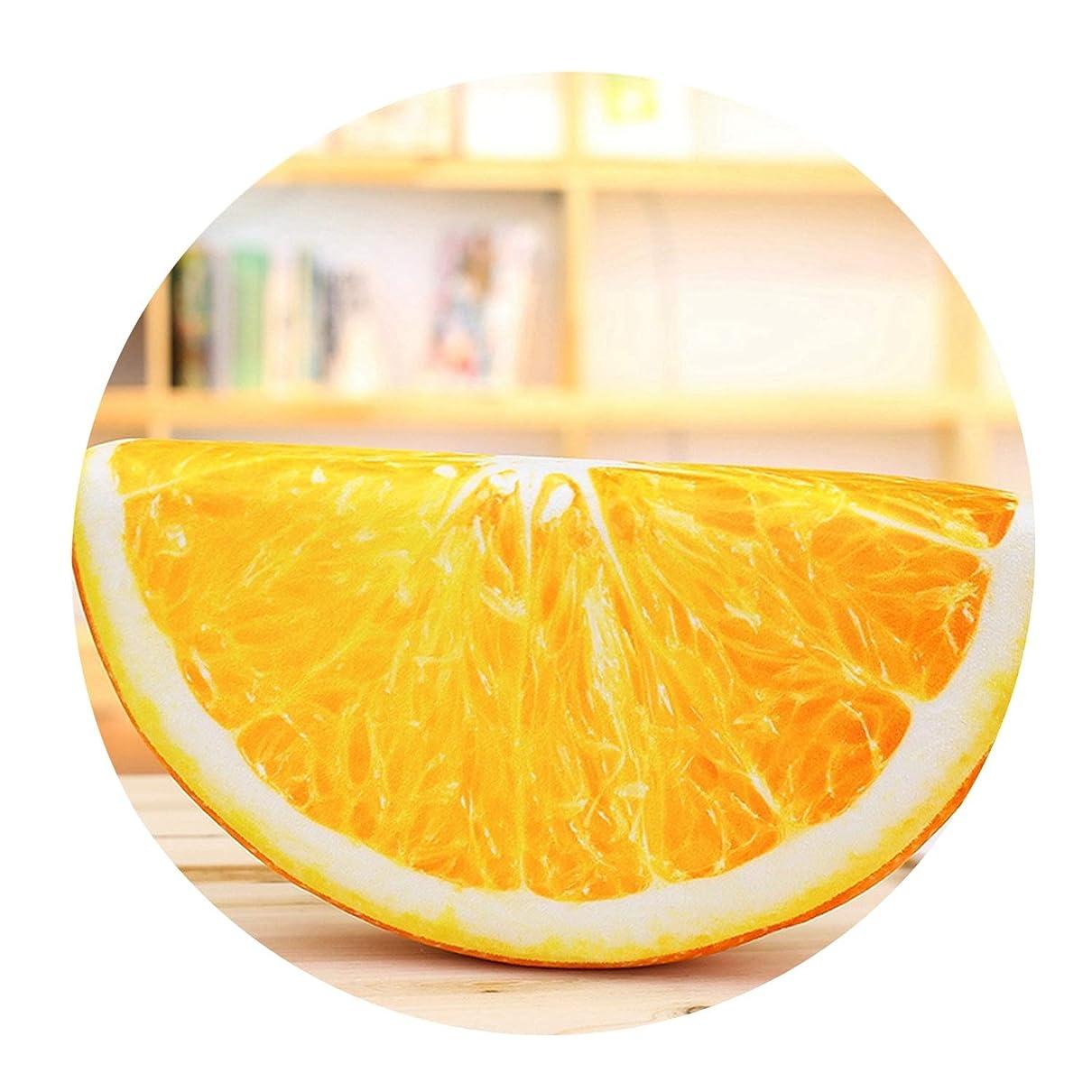 トレイル結核ペック心地いい抱き枕腰枕車枕かわいいおしゃれ人気スイカ枕フルーツスライスアクセサリー子誕生日プレゼントレディース,オレンジ色,16×12×4cm(小ペンダント)