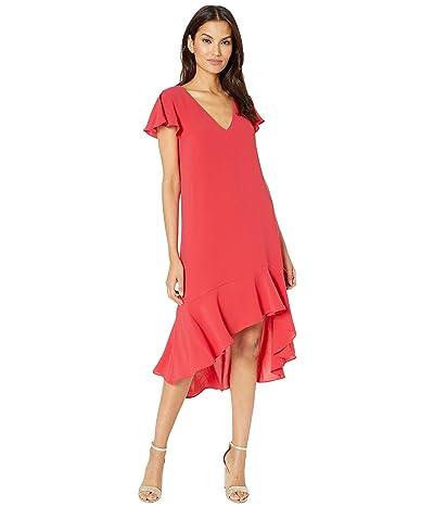 Adrianna Papell Gauzy Crepe High-Low Dress Women