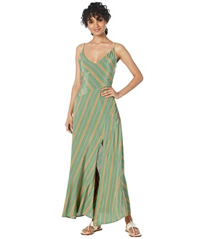 ASTR the Label Jessi Dress (Emerald Green Stripe) Women