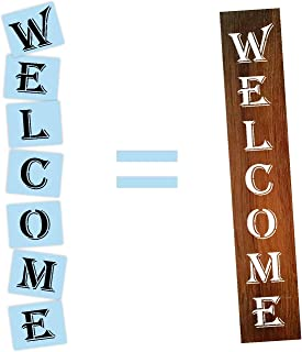 Welcome Porch Stencil, Reusable, Paint Your Own Wood Sign