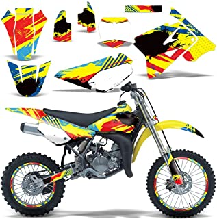 2002-2015 Suzuki RM 85 Full Decal Kit with Number Plates and Rim Trim Design Multicolored