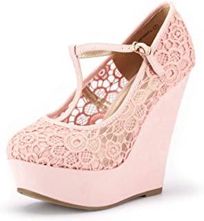 bfcc82dadbd DREAM PAIRS Mary Jane Platform Wedges Shoes for Women