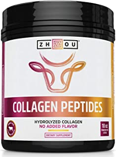 Zhou Collagen Peptides Hydrolyzed Powder | for Vital Joint & Bone Support, Glowing Skin, Strong Hair & Nails, Digestive He...
