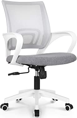 NEO CHAIR Office Chair Computer Desk Chair Gaming - Ergonomic Mid Back Cushion Lumbar Support with Wheels Comfortable Blue Me
