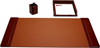 Dacasso Mocha Leather 3-Piece Desk Set