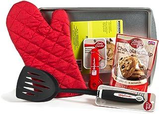 Chocolate Chip Cookie 5 Piece Baking Bundle - Cookie Sheet, Oven Mitt, Measuring Spoons, Nylon Turner/Spatula, Betty Crock...
