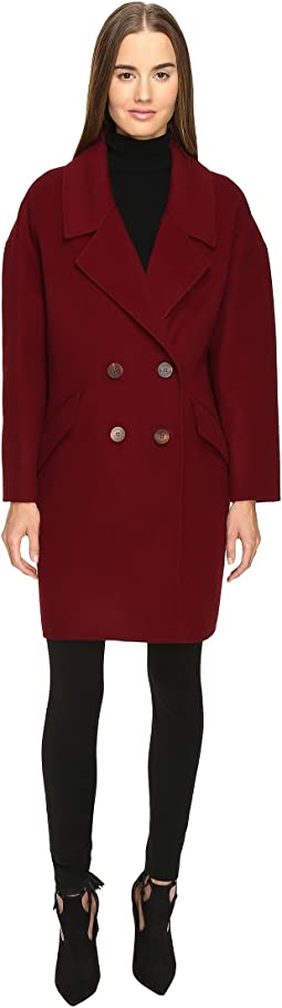 Roma Solid Double Face Wool Boyfriend Coat