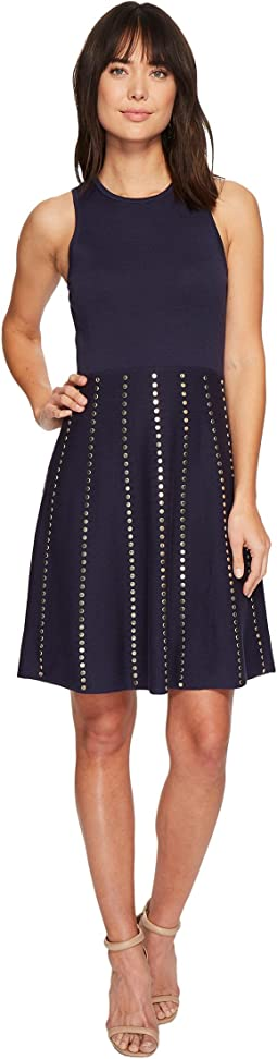MICHAEL Michael Kors Stud Fit Flare Dress