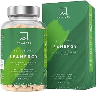 Quemagrasas - Apoya a la pérdida de peso + Acelera el Metabolismo - Termogénico natural con Té Verde, Extracto de Café Verde y Garcinia Cambogia - 95% Polifenoles - 90 Cápsulas.