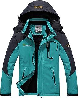 YXP Men's Mountain Waterproof Ski Jacket Windproof Rain Jacket