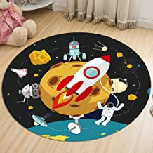 Non-Slip Carpet Bedroom Living Room Balcony Bay Window Pad Flannel Round Moisture-Proof for Adults and Children Rugs,2,60cm