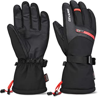 Cevapro -40℉ Winter Gloves Waterproof Ski Gloves 3M Thinsulate Snowboarding Gloves
