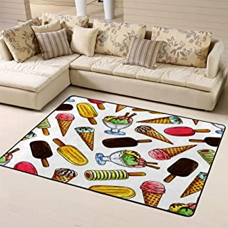 Area Rug Rugs Carpet Ice Cream of Elements Eskimo Pie Frozen Sorbet Gelato Sundaefor Living Room Bedroom 60