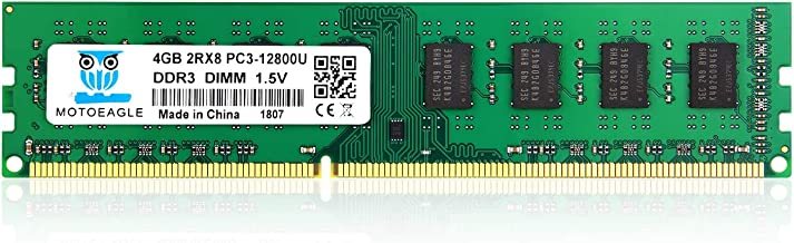 4GB 2Rx8 PC3 12800U Motoeagle 240-Pin DDR3 1600 UDIMM 1.5V Dual Rank Module Desktop Memory