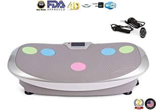 GLOBAL RELAX Zen Shaper Vibration Plate (2019 Model) - Fitness Oscillating Vibration Platform - 3 Auto Modes to Lose Weight - Exercise Areas (Walk-Jogging-Running) - 2 Years Official Warranty US